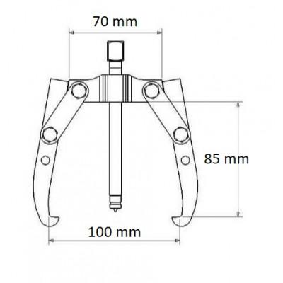 Extractor 2 patas Forza 1301